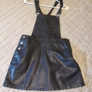 Forever21 leather overalls